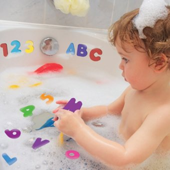 36pcs Educational Floating Bath Letters & Numbers stick on Bathroom Toy (Intl) - picture 2