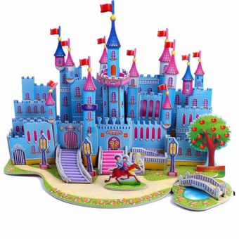 3D DIY Puzzle Jigsaw Baby toy Kid Early learning CastleConstruction pattern gift For Children Brinquedo Educativo HousesPuzzle - intl