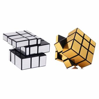 3D Rubik's Cube Mirror Cube Toy Puzzle Game SET Of 2