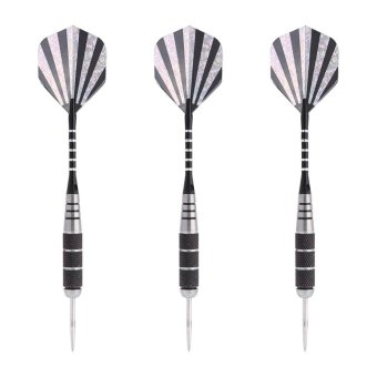 3pcs 155mm Steel Tip Darts With Nickel Plated Barrel For Dart Board (L2) - intl