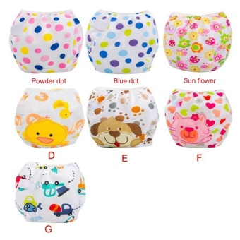 3Pcs Newborn Baby Nappy Adjustable Washable Diaper Cover Breathable Reusable Cloth Suit For 0-2 Years - intl - 5