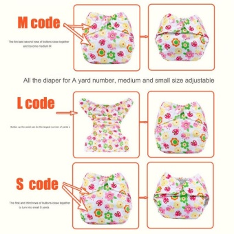 3Pcs Newborn Baby Nappy Adjustable Washable Diaper Cover Breathable Reusable Cloth Suit For 0-2 Years - intl - 2