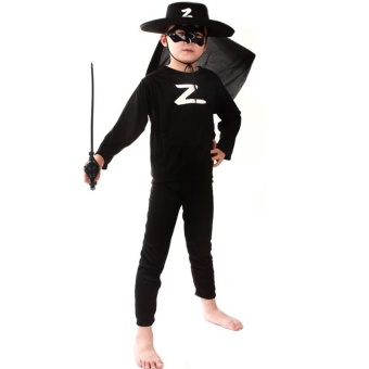 3PCS Top+Pants+Mask Cosplay Zorro Halloween Costumes for KidsBoys(Zorro) - intl