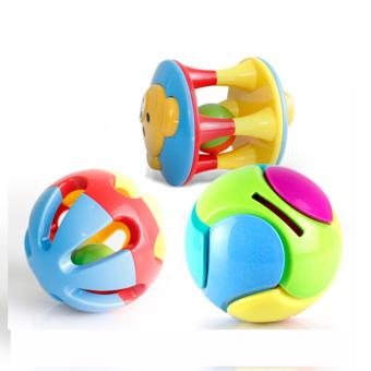 3PCS/Set Baby Intelligence Toys Rattles and Teether Jingle BallRing Baby Rattles Toys - intl