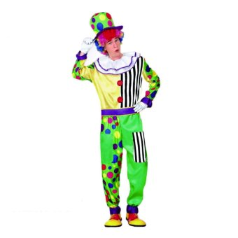 3PCS/Set Clown Cosplay Halloween Costumes for Adult MenJumpsuit+Cap+Belt Size 160-180CM - intl