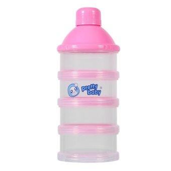 4 Layers Portable Baby Milk Powder Formula Dispenser Food CandyStorage Case (Pink) - intl - 2