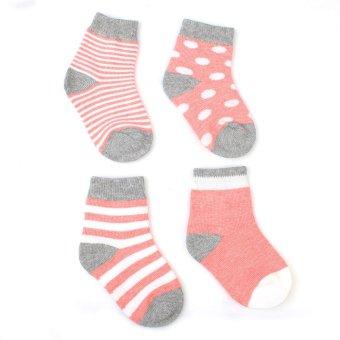 4 Pack Baby Boys Girls Quanlity Anti Slip Socks Infant Boy Girl 0 24 Months (Intl) - picture 2