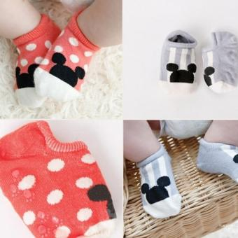 4 Pairs Cotton Baby Girls Non-Slip Socks For 0-24 Months