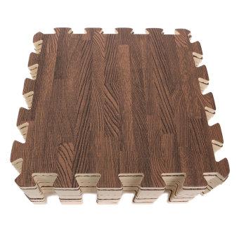 45PCS Wood Interlock EVA Foam Floor Puzzle Pad Work Gym Mat Kid Safety Play Rug - 2