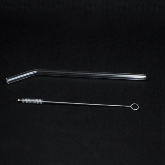 4pcs Bent Glass Tube Drinking Straw Sucker with 1pc Cleaning Brush Price Philippines