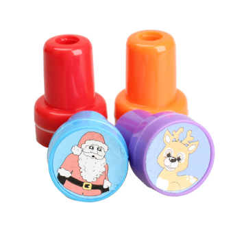 4PCS Christmas Snowman Santa Claus Pre Ink Stamper Kids Crafts Toy - INTL - picture 2