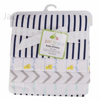 4pcs/pack 76cm*76cm 100%cotton flannel Receiving blanket forswaddling newborns - Soft & Absorbent burp cloths - intl