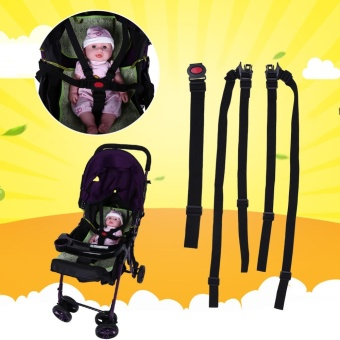 5 Point Harness Adjustable Baby Stroller Safety Strap Pram Seat Belt - intl - 5