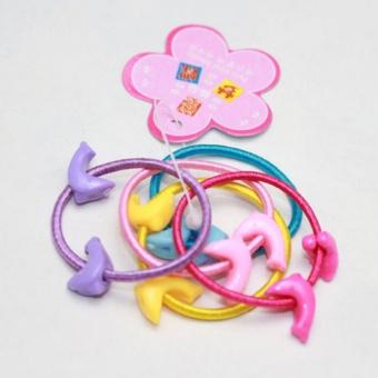 50 Pcs Assorted Elastic Rubber Hair Rope Band Ponytail Holder ForKids Girl - intl - 4