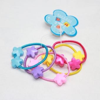 50 Pcs Assorted Elastic Rubber Hair Rope Band Ponytail Holder ForKids Girl - intl - 5