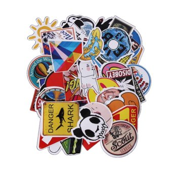 50Pcs Sticker For Car Laptop Luggage Skateboard Motorcycle - intl