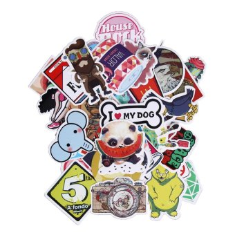 50pcs Waterproof Doodle Sticker for Luggage Suitcase Bike Laptop -intl
