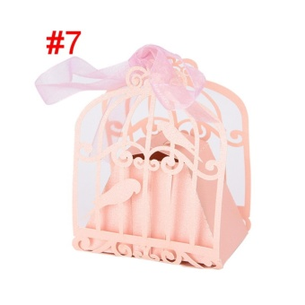50pcs/lot Butterfly Candy Box Wedding Favors Gifts Box for Wedding Supplies Style 7 - intl