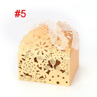 50pcs/lot Butterfly Candy Box Wedding Favors Gifts Box for WeddingSupplies Style 5 - intl