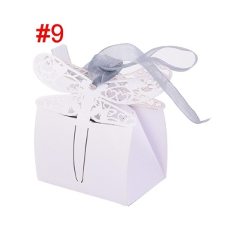 50pcs/lot Butterfly Candy Box Wedding Favors Gifts Box for WeddingSupplies Style 9 - intl