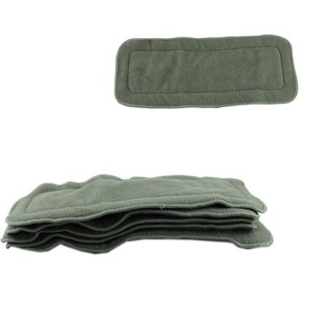 5Pcs 4 layers Bamboo Charcoal Inserts Cloth Diaper For Baby Diaper Washable Grey