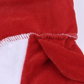 5pcs Adult Men Christmas Santa Claus Costume Suit Outfit One Size