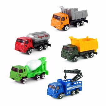 5pcs Alloy Engineering Car Tractor Toy Model Farm Vehicle Boy ToyCar Model Dump Truck Artificial Model for Kids - intl