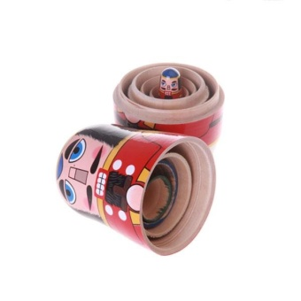 5pcs/ Set Nutcracker Solders Wooden Russian Handmade MatryoshkaNesting Dolls - intl - 3