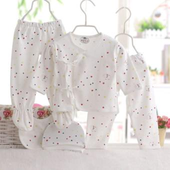 5PCS/SET Newborn Baby Girls Boys Clothes Cotton Underwear 0-3Months- intl