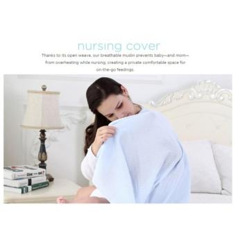 6 in 1 Multifunctional Organic Bamboo Muslin Swaddle Blanket cottontowel burp baby wrap nursing cover 120x120cm - 4