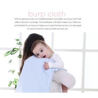 6 in 1 Multifunctional Organic Bamboo Muslin Swaddle Blanket cottontowel burp baby wrap nursing cover 120x120cm - 3