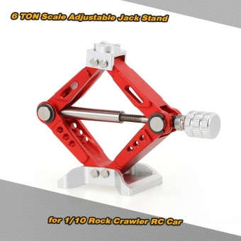 6 TON Aluminum Alloy Scale Adjustable Jack Stand for 1/10 RC4WD D90 SCX10 Rock Crawler RC Car - intl