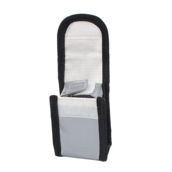 64x50x95mm Fireproof Explosionproof Battery Lipo Safe Bag PouchSack for Charge&Storage Silver - intl Price Philippines