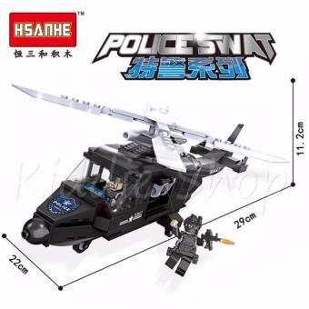 6505 HSANHE 254 PCS POLICE SWAT AIRCRAFT HELICOPTER (product mayvary from photo and specification on box) Price Philippines