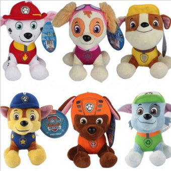 6Pcs Patrol Dog Paw Soft Stuffed Plush Gifts Home Decor For Kid Children