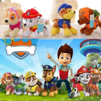6Pcs PAW PATROL COMPLETE SET 6 Cute Dogs plush Doll Dog Toy Zuma12CM - intl