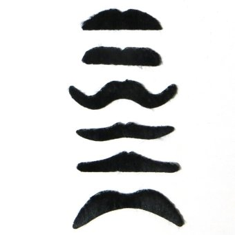 6pcs/lot Costume Party Halloween Fake Mustache Funny Fake Beard Whisker - intl