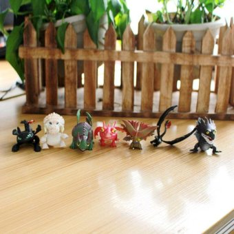 7PCs How To Train Your Dragon Doll Action Figure Night Fury Toothless Kids - intl
