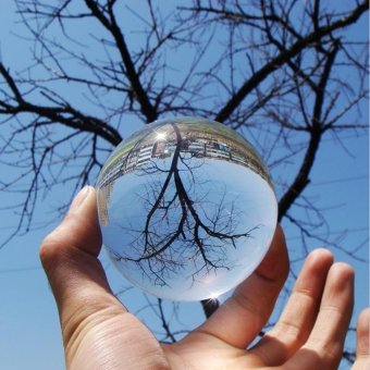 80MM Rare Natural Quartz Crystal Glass Sphere Ultra Clear AcrylicBall Manipulation Contact Juggling Fuuny Gadgets Magic Props TricksChakra Healing Gemstone Kids Toy - intl - 3