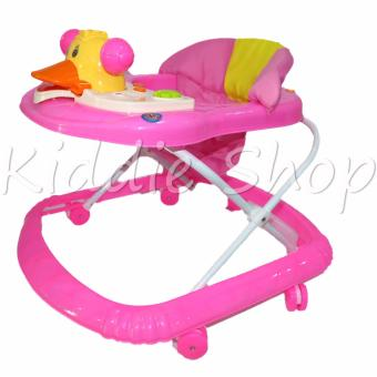 88-5 Duck Musical Baby Walker (Pink)