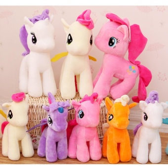 8pcs/lot 20cm Cute My Little Pony Colorful Horse Plush Soft StuffedAnimals Doll Toys For Kids Birthday Gifts - intl