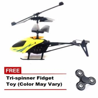 901 Remote Control Helicopter (Yellow) with FREE Tri-Spinner Fidget(Color May Vary)