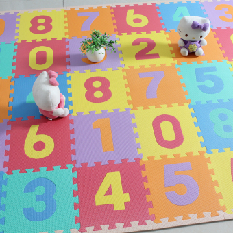9PCS/Lot Baby Play Crawling Mat Floor Puzzle Children EducationalFoam Puzzle Jigsaw Mat Eva Square Foam Mat Toys For Kid Room