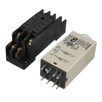 AC 220V H3Y-2 Power On Time Delay Relay Solid-State Timer 1.0~30Min DPDT Socket - intl