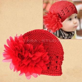 AC Hot Sale Sweet Cute Crochet Flower Beanie Hat Cap Newborn BabyToddlers Girls - intl - 5