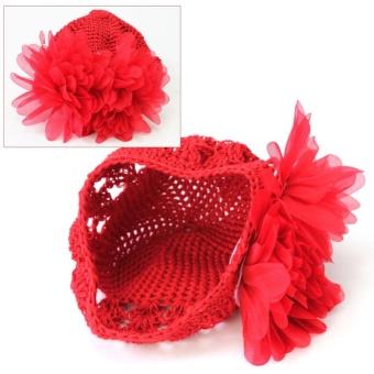 AC Hot Sale Sweet Cute Crochet Flower Beanie Hat Cap Newborn BabyToddlers Girls - intl - 3