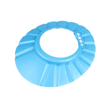 Adjustable Baby Kids Shampoo Cap Bath Shower Cap Hat Wash HairShield Blue