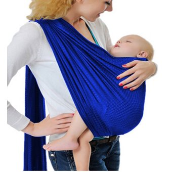 Adjustable Baby Water Ring Sling Baby Carrier Infant Wrap withAluminum Ring (Royal Blue)