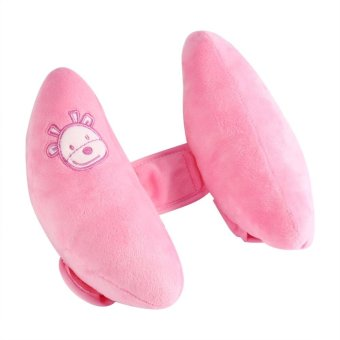 Adjustable Kid Toddle Head Neck Support Car Seat PillowProtectors(Pink) - intl