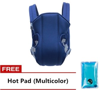 Adjustable Straps Baby Carriers (Blue) With Free Hot Pad(Multicolor)
